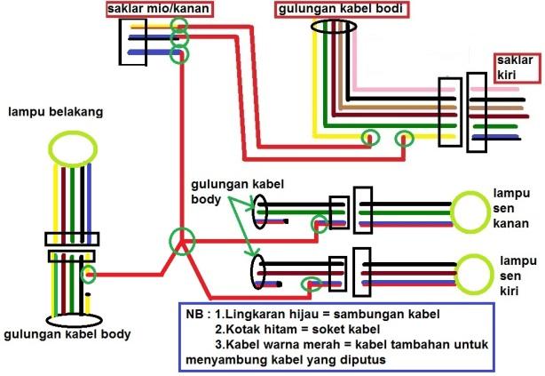 Tips Pasang Saklar Lampu Untuk Motor Baru  Part 2  Diagram