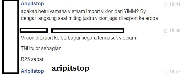 vixion export