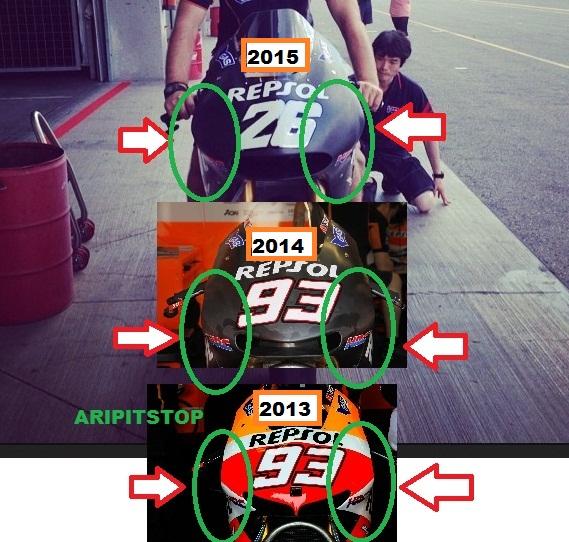 Nich Dua Perbedaan Honda RC213V Antara Tahun 2013 Vs 2014