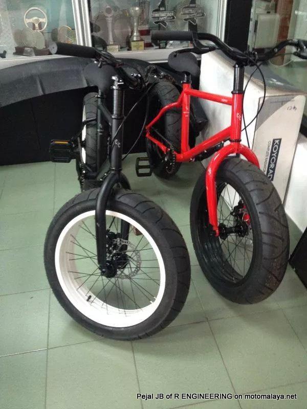 Modifikasi Sepeda Pakai Velg dan Ban Motor, Keren Jadi