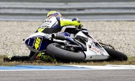 rossi-crash