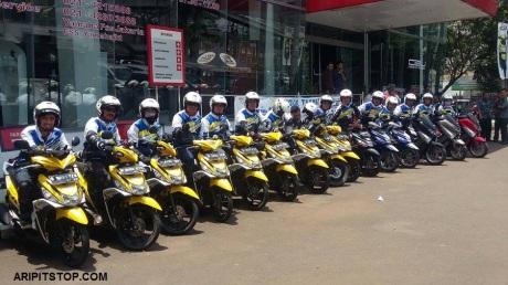 "Bersama media yamaha mengadakan ""mio m3 fun eco riding city touring"