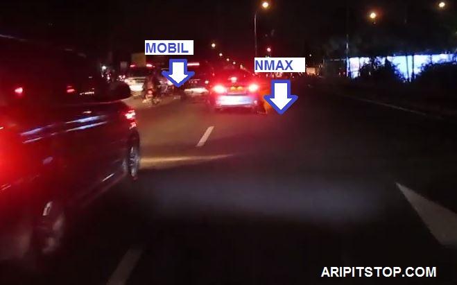 bagaimana ketika riding video nyala lampu led yamaha