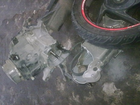 motor honda beat patah