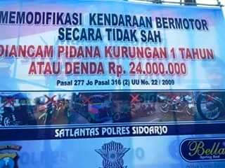 modifikasi kena denda