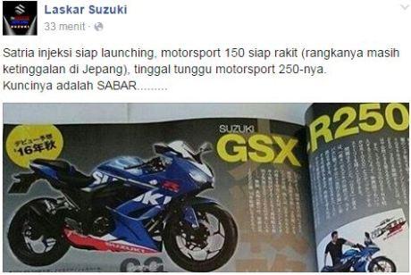 laskar suzuki rangka motor sport 150cc ketinggalan di jepang