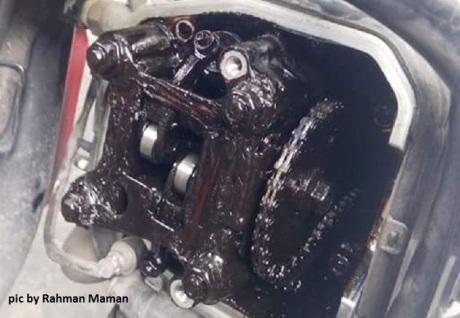 efek oli gardan masuk di mesin (2)