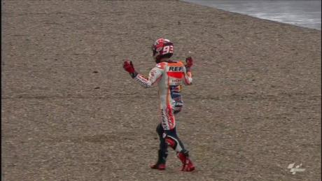 marquez crash in silverstone
