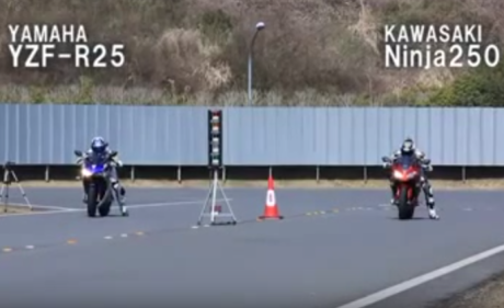 adu drag r25 vs ninja 250