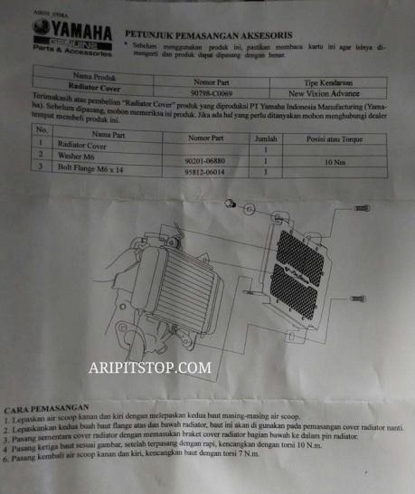 cover pelindung radiator vixion (3)