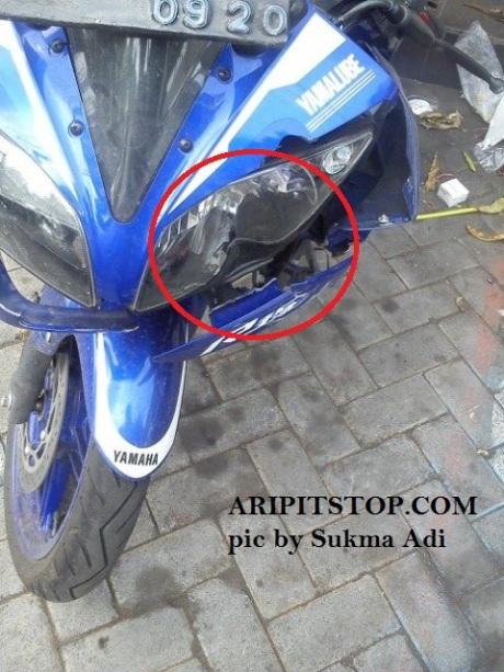 headlamp r15 pecah (2)