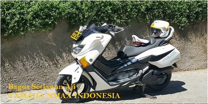 Modifikasi Yamaha NMAX Milik Polisi Ini Pakai HID Projector Keren Juga