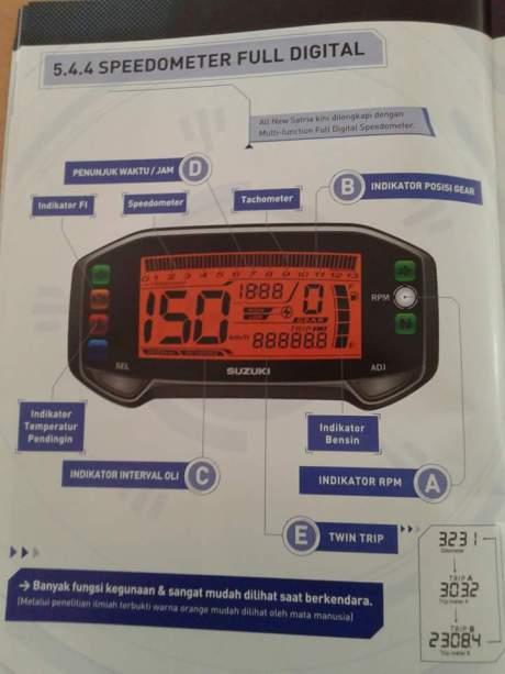 panel speedometer satria injeksi