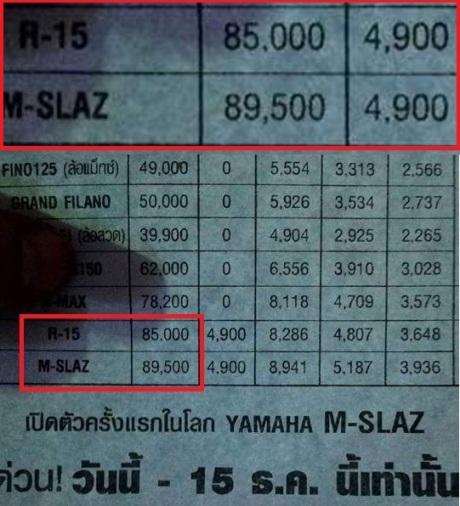 price list m-slaz