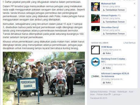 syarat tilang oleh polisi