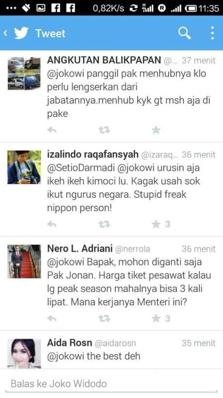 twitter presiden jokowi mengenai gojek (2)