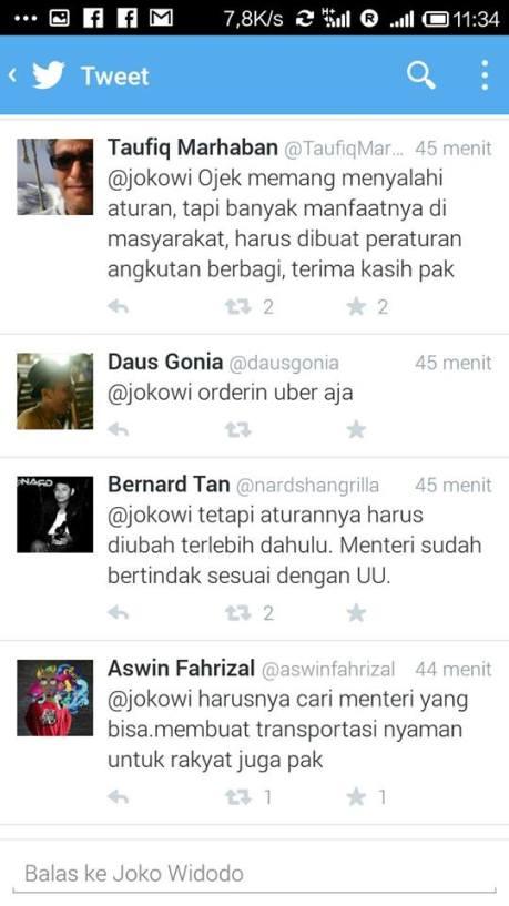 twitter presiden jokowi mengenai gojek (3)