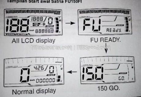 display speedometer satria injeksi