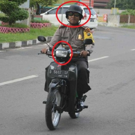 polisi tak malu pakai motor butut