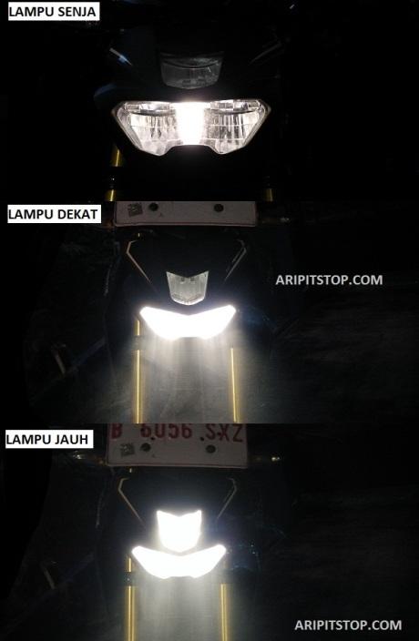 nyala lampu yamaha xabre (2)