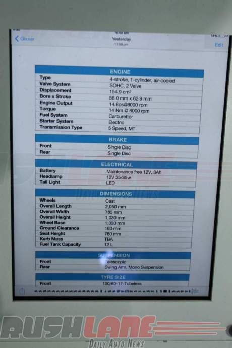 spesifikasi gixxer injeksi