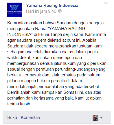 akun yamaha racing