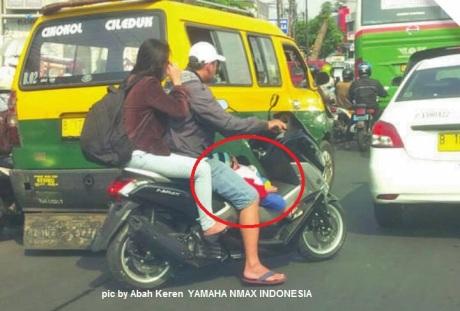 bonceng motor tidak safety